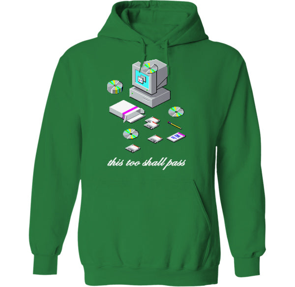 this too shall pass windows 95 98 installation icon logos screen microsoft t-shirt hoodie by palm treat artists jeff nolan & marie nolan