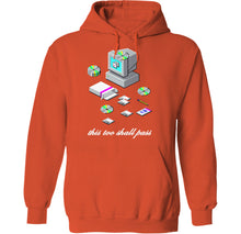 Load image into Gallery viewer, palm treat vaporwave this too shall pass hoodie