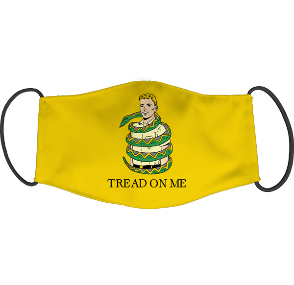 Tread on Me Face Mask