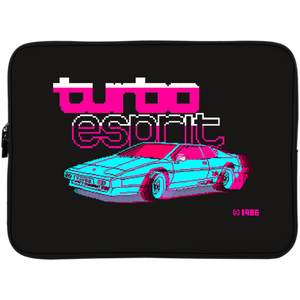 Retro neon car collector's laptop case and sleeve