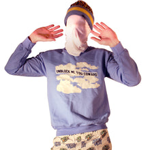 Load image into Gallery viewer, Unblock Me You Coward Crewneck Sweatshirt by palm-treat.myshopify.com for sale online now - the latest Vaporwave & Soft Grunge Clothing