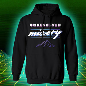 unsolved misery unsolved mystery ufo files mountains techno noir cyberpunk vaporwave hoodie