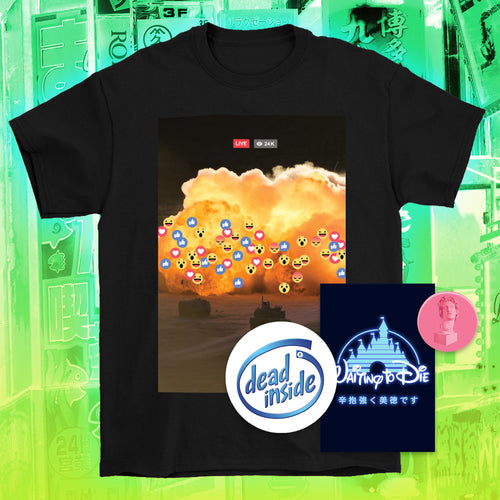 Live 24K T-Shirt - 6XL by palm-treat.myshopify.com for sale online now - the latest Vaporwave & Soft Grunge Clothing