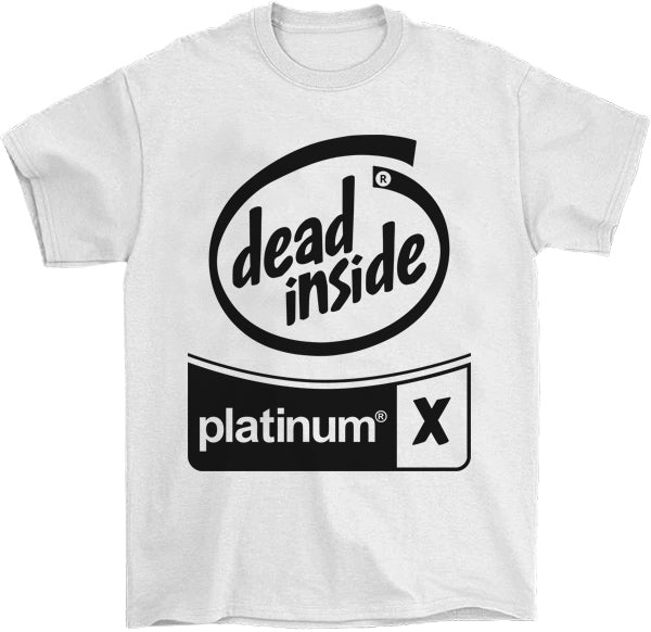 Black Out Dead Inside T-Shirt by palm-treat.myshopify.com for sale online now - the latest Vaporwave & Soft Grunge Clothing