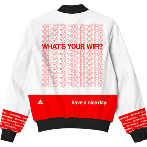What's Your WiFi? Bomber Jacket
