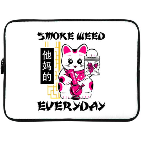 Smoke Weed Everyday Laptop Sleeve - 15 Inch by palm-treat.myshopify.com for sale online now - the latest Vaporwave & Soft Grunge Clothing