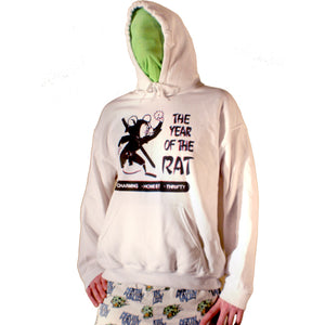 Year of the Rat Hoodie by palm-treat.myshopify.com for sale online now - the latest Vaporwave & Soft Grunge Clothing