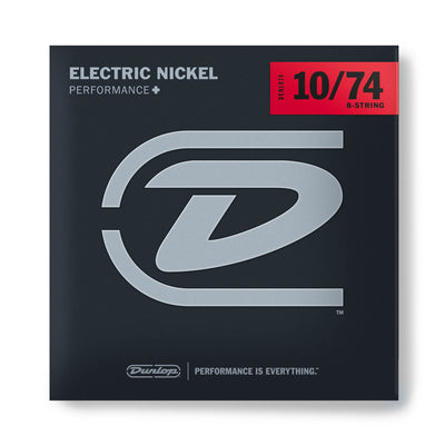 Dunlop Performance+ Nickel Wound Electric Guitar Strings - 10/74 - 8 String