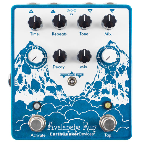 Earthquaker Devices Avalanche Run Stereo Reverb & Delay with Tap Tempo - V2