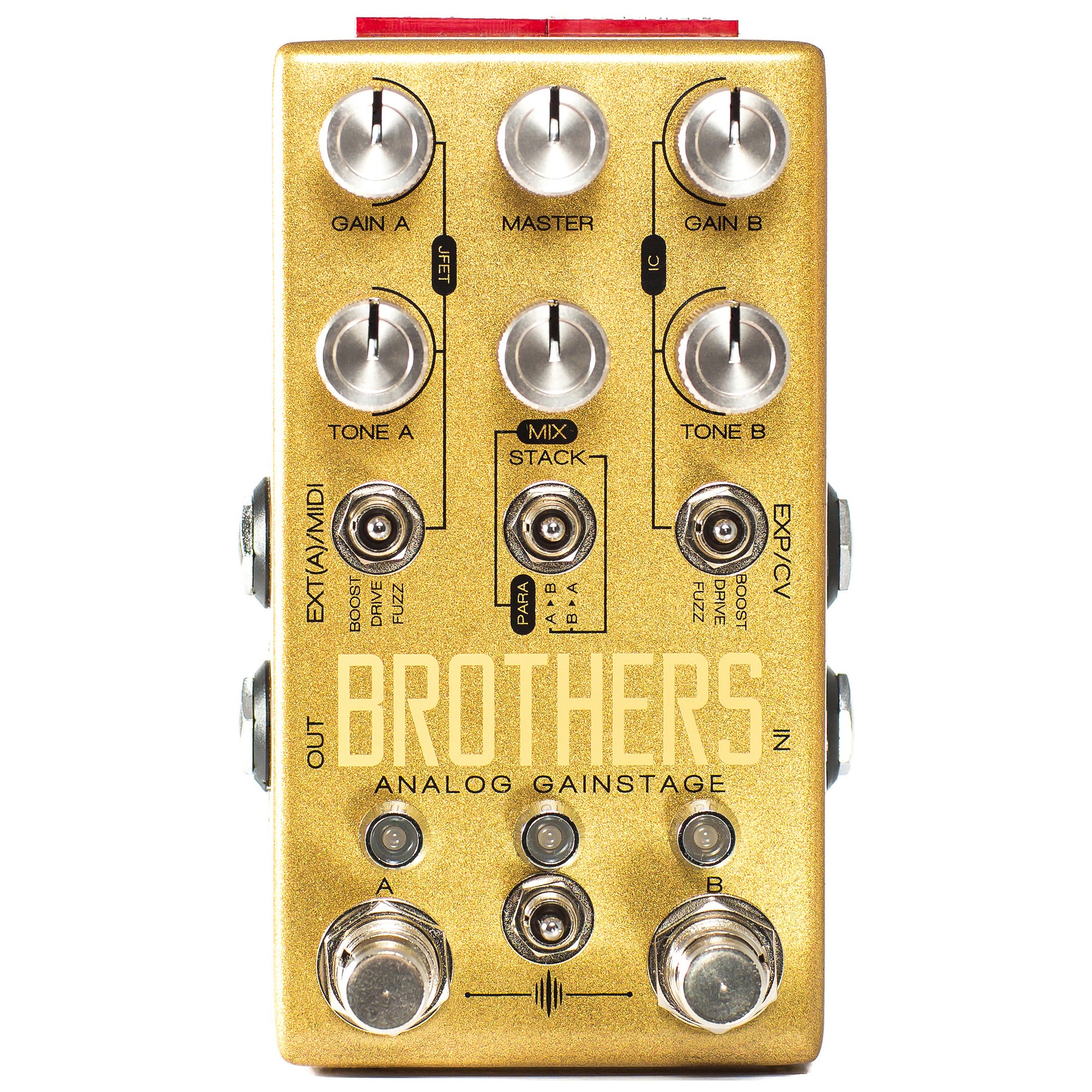Chase Bliss Audio Brothers Boost, Fuzz & Overdrive Pedal