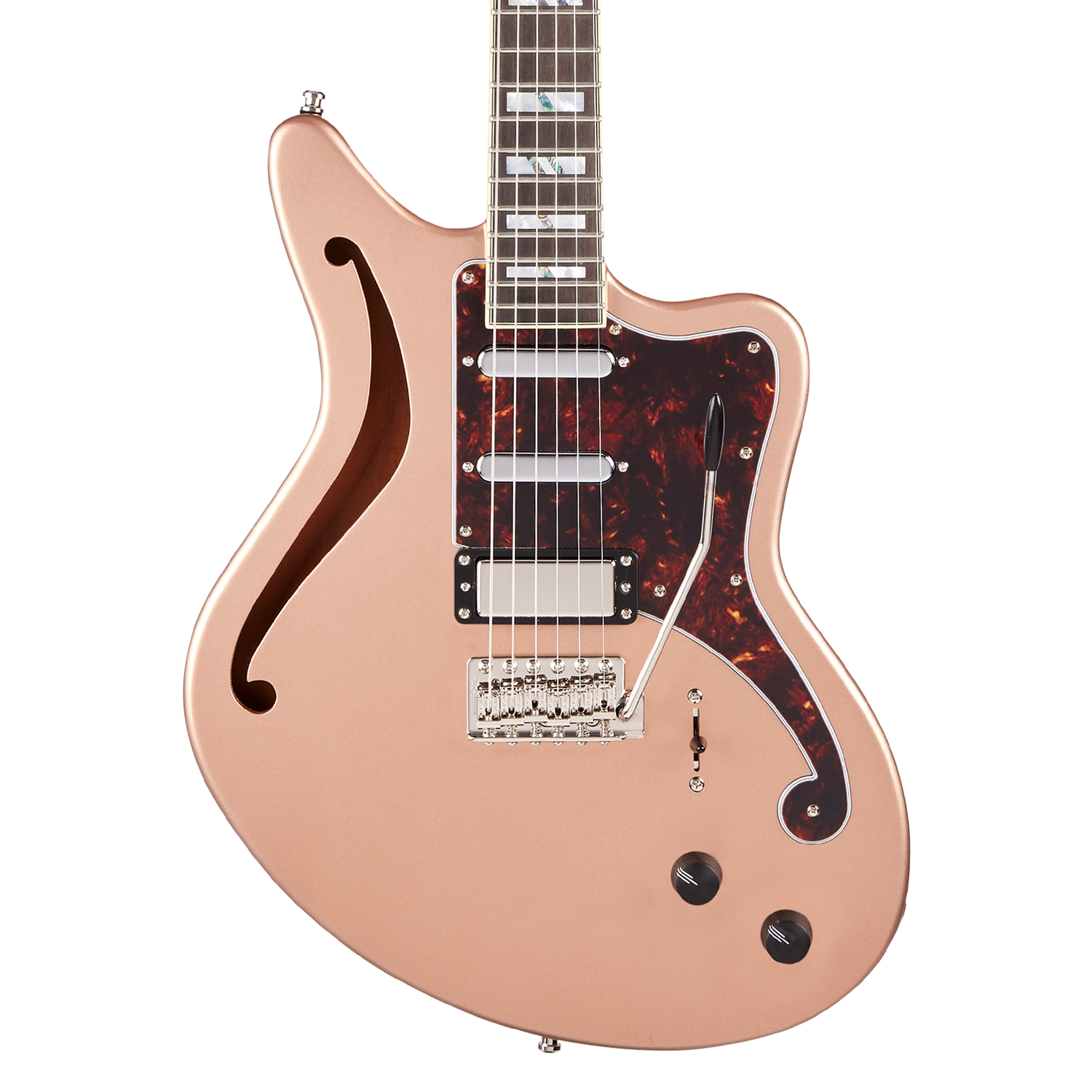 D'Angelico Deluxe Bedford SH Limited Edition - Matte Rose Gold
