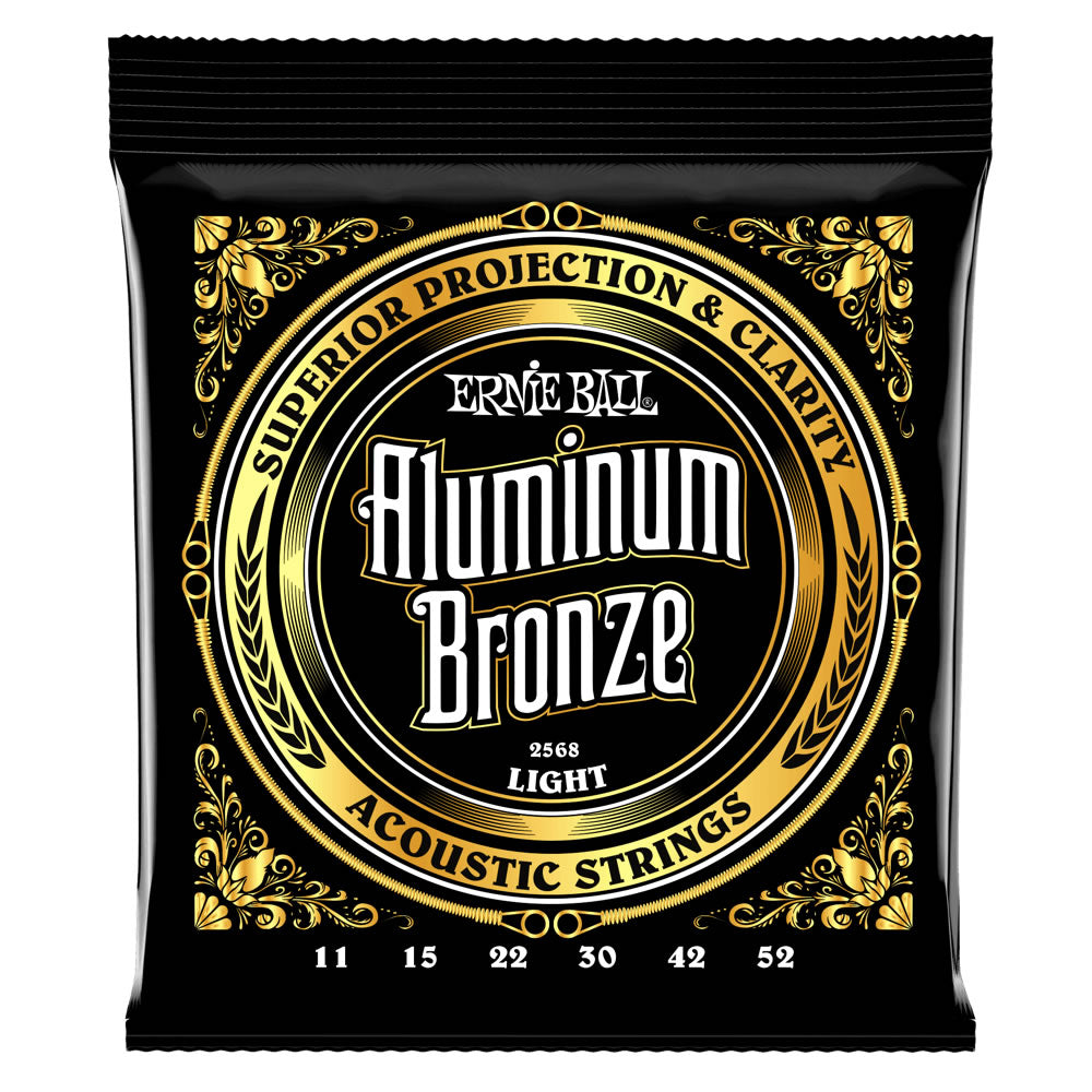 Ernie Ball Aluminum Bronze Acoustic Guitar Strings - 11-52 Gauge - Light