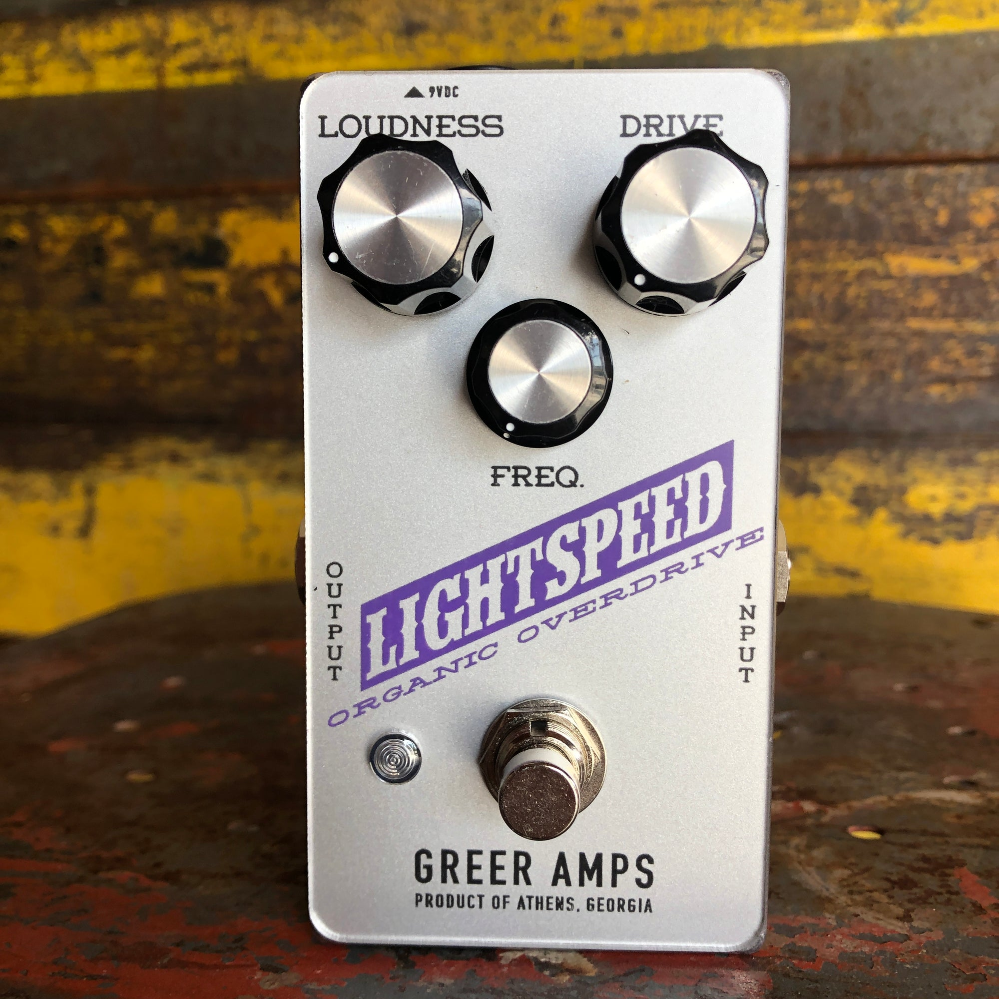 Greer Amps Lightspeed Organic Overdrive - Limited Edition Silver / Purple Colorway
