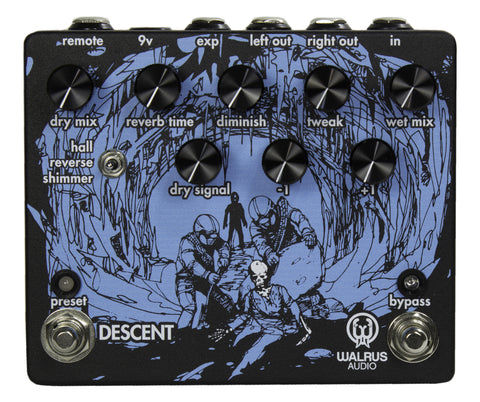 Walrus Audio Descent Reverb - Textured Black Limited Edition