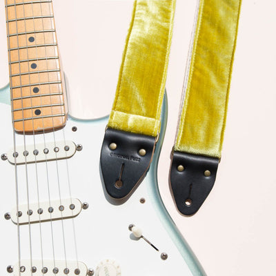 Original Fuzz Velvet Guitar Strap in Williamsburg