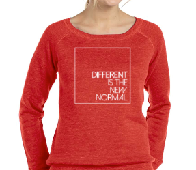 Different is the New Normal Women's Wide Neck Sweatshirt