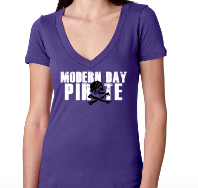Modern Day Pirate Women's V-Neck