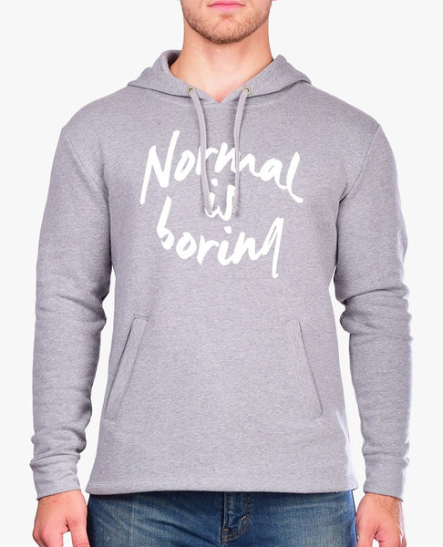 Normal is Boring Unisex Hooded Sweatshirt