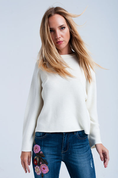 creme ribble sweater