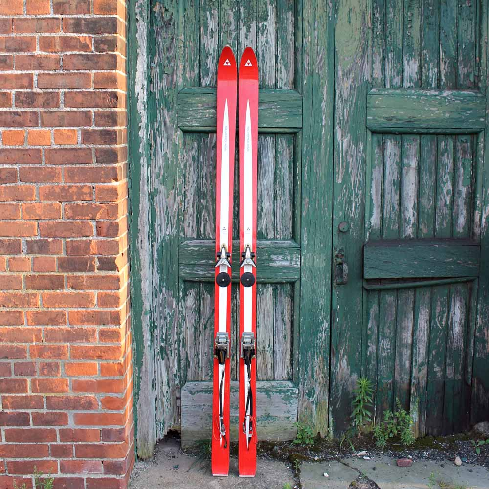 Red Skis and Green Door