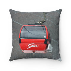 Red Stowe Gondola Ski pillow Ski Stuff Ski decor