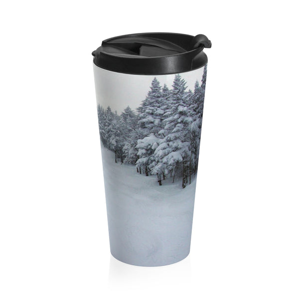 Stainless Steel Travel Mug - Chair Lift Vermont