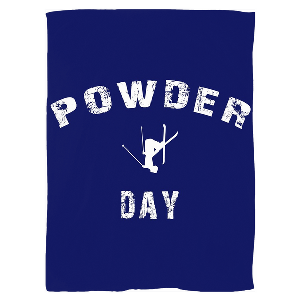 Fleece Blanket - Powder Day Navy Blue