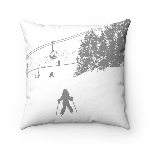 Little Skier - Throw Pillow
