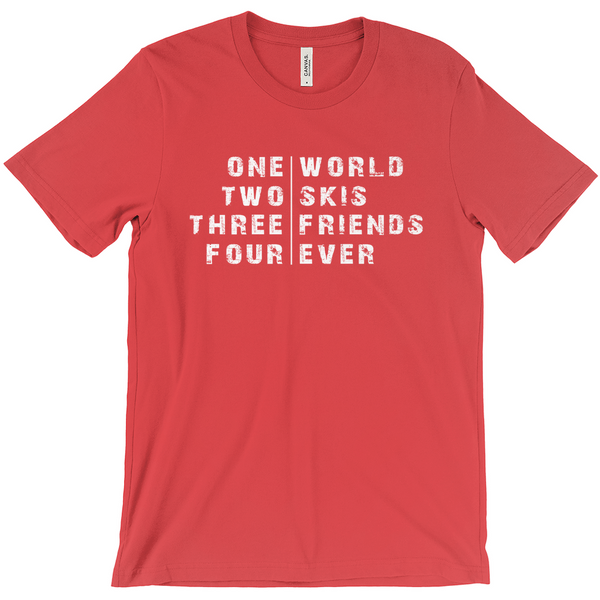 One World Skiing - T-Shirt