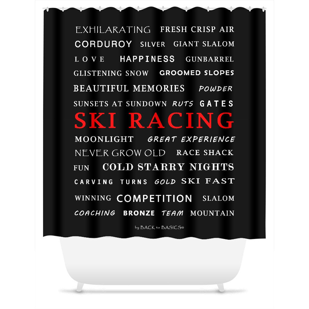 Ski Racing - Shower Curtain