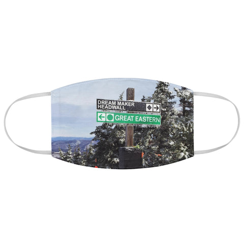 Skiing Trail Signs - Fabric Face Mask