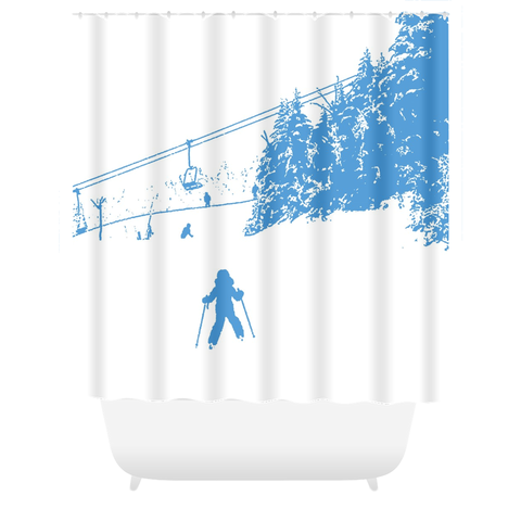 Little Skier - Shower Curtain