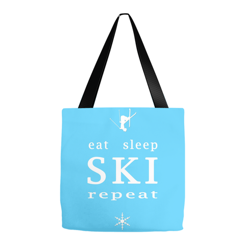 Eat Sleep SKI light blue - Tote Bag
