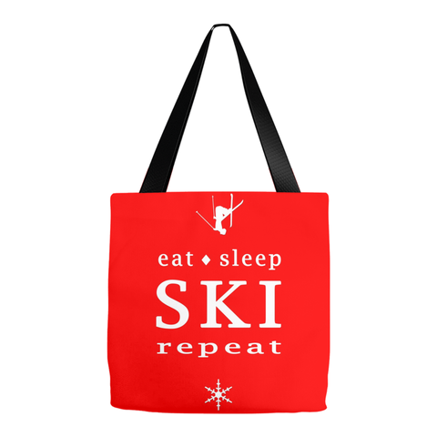 Eat Sleep SKI red - Tote Bag