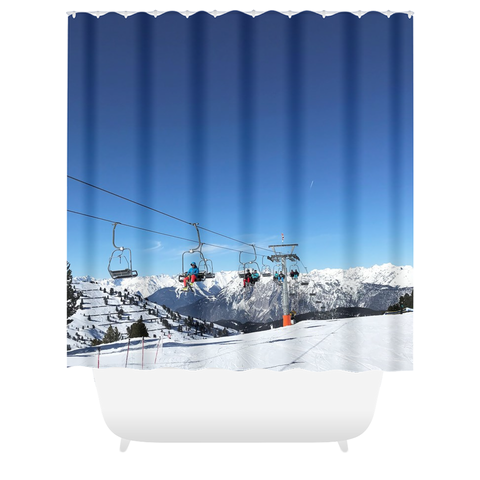 Chair Lift Tyrol - Shower Curtain