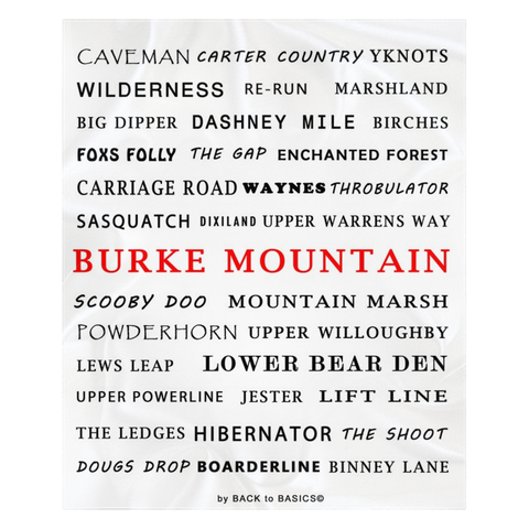 Burke Mountain - Throw Blankets