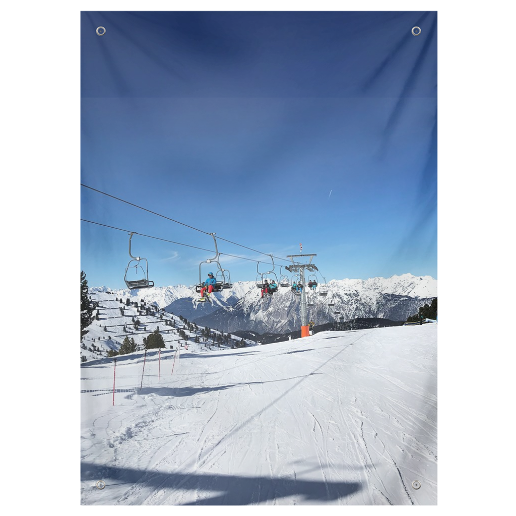 Chairlift Austrian Alps - Wall Tapestry