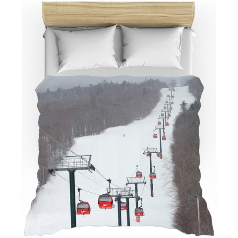 Stowe Mountain Gondola - Duvet Cover