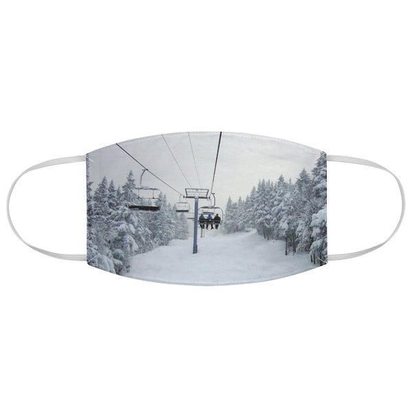 Chair Lift Vermont - Fabric Face Mask