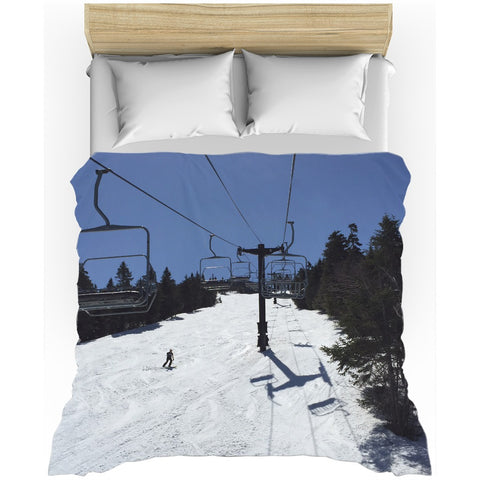 Blue Bird Skiing - Duvet Cover