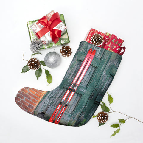 Christmas Stockings  - Red Skis and Green Door