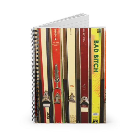 Spiral Notebook - Vintage Skis Yellow