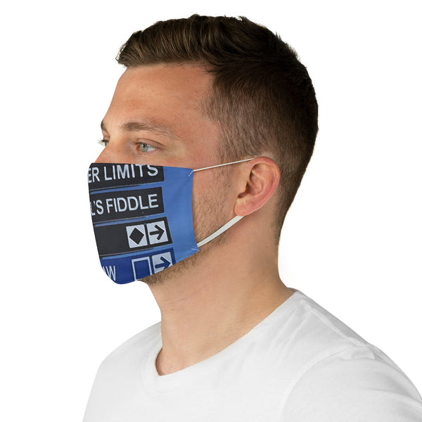 Ski Trail Signs - Fabric Face Mask