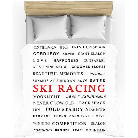 Ski Racing - Duvet Cover