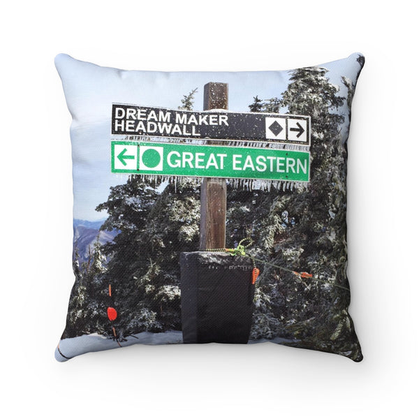 Ski Trail Sign - Throw Pillow