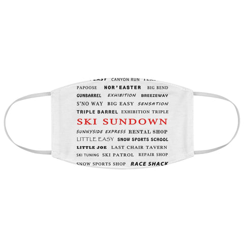 Ski Sundown - Fabric Face Mask