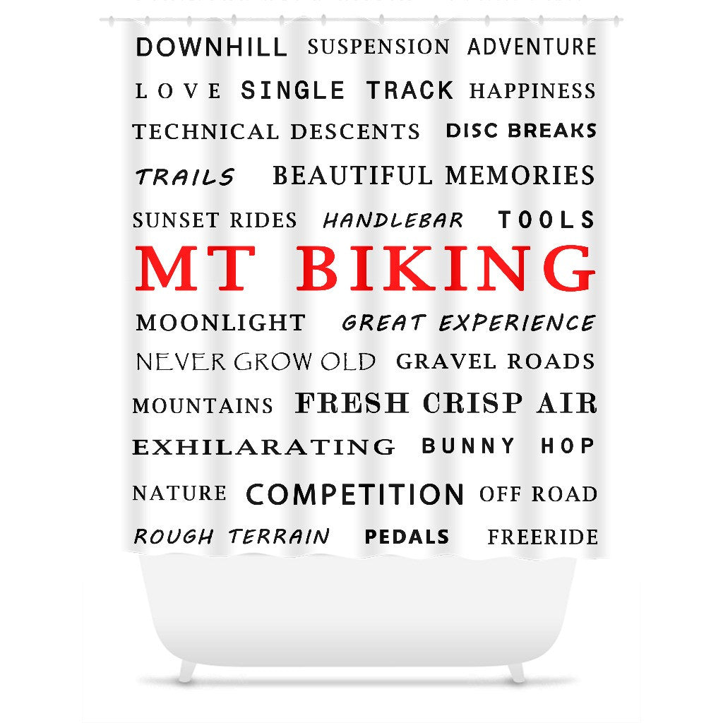 Mt Biking - Shower Curtain