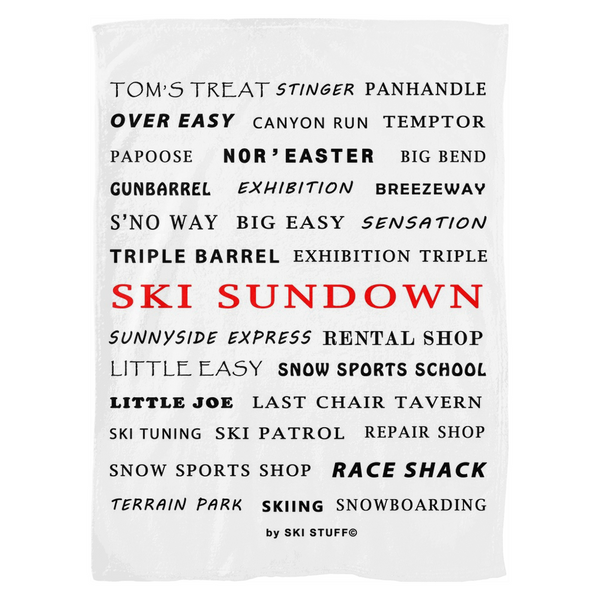 Ski Sundown - Fleece Blanket