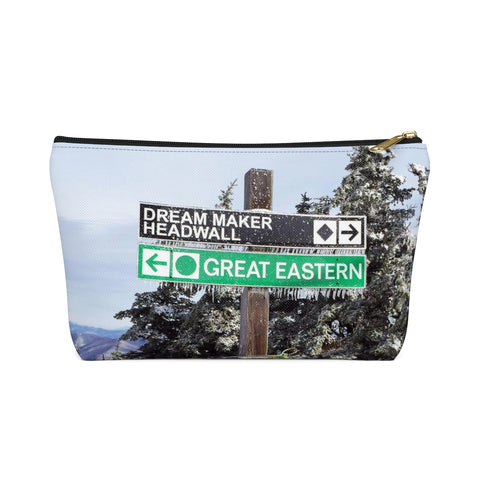 Ski Trail Sign - Accessory Pouch w T-bottom