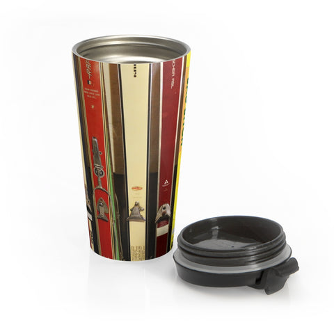 Skis and Bindings - Stainless Steel Travel Mug